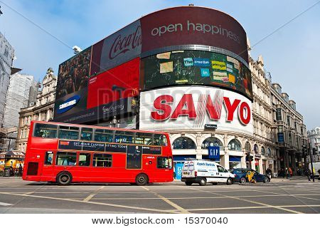 London - April 10: View Of Piccadilly Circus On April 10, 2008 In London. Famous Advertisements Of T