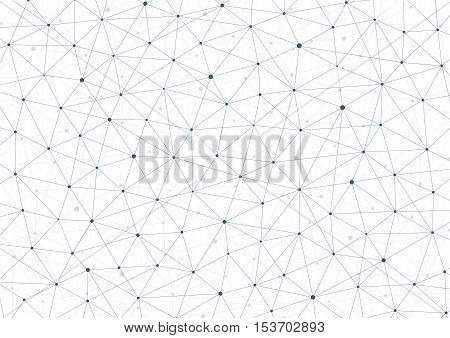 Connection structure. Geometric abstract background. Medicine, science and technology. Vector illustration for your design