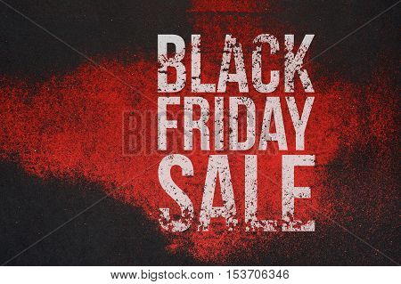 Black Friday Sale big grunge Text on creative Banner