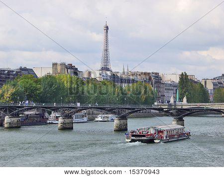 Paris. Eiffel Tower. River Seine