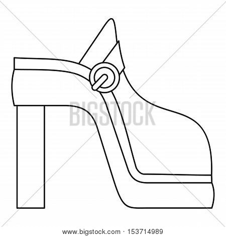 Women shoe icon. Outline illustration of women shoe vector icon for web