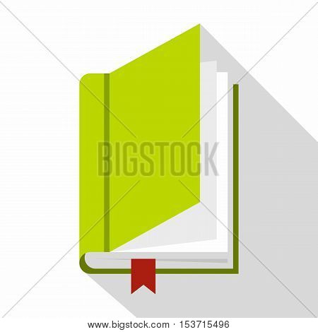 Book with bookmark icon. Flat illustration of book with bookmark vector icon for web
