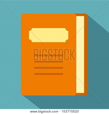 Tutorial icon. Flat illustration of tutorial vector icon for web