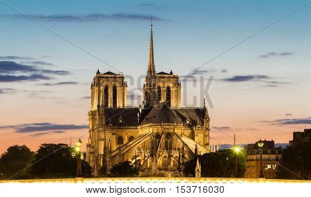 The Notre Dame cathedral is a historical monument one of the most visited in Paris considered as one of the finest examples of French Gothic architecture.