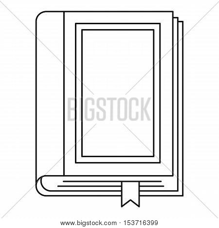 Book icon. Outline illustration of book vector icon for web