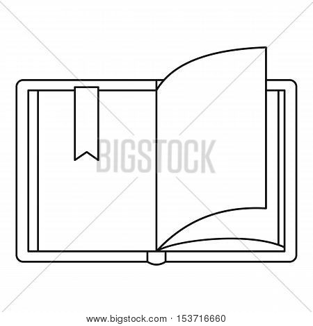 Open book icon. Outline illustration of open book vector icon for web