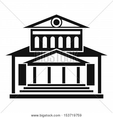 Theater building icon. Simple illustration of theater building vector icon for web