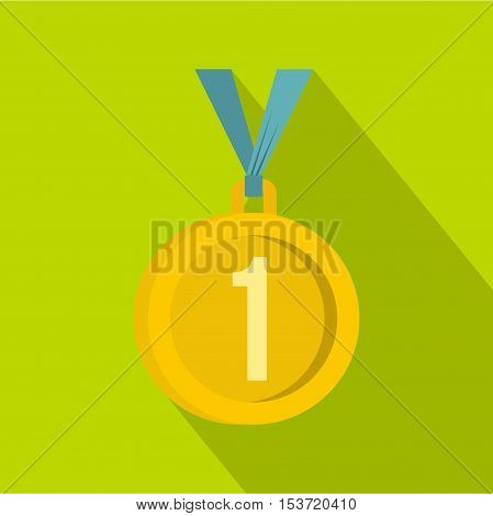 Medal for first place icon. Flat illustration of medal for first place vector icon for web