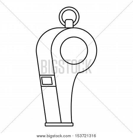 Whistle of refere icon. Outline illustration of whistle of refere vector icon for web
