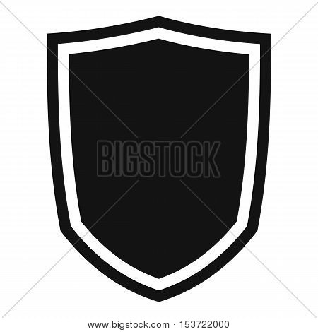 Military shield icon. Simple illustration of military shield vector icon for web