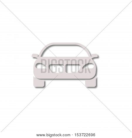 SImple Car Simple icon on white background