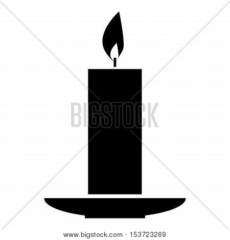 Burning candle icon. Simple illustration of burning candle vector icon for web