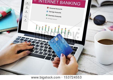 Internet Banking Online Summary Concept