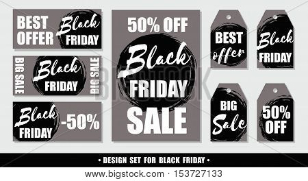 Black Friday. Set Of Vector Design Templates