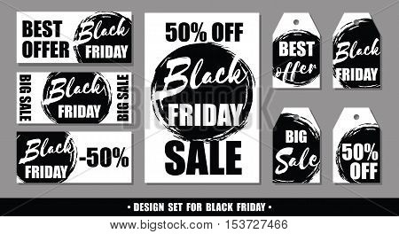 Black Friday. Set Of Vector Design Templates.