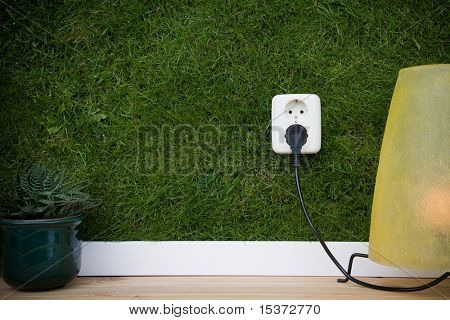 energy concept outllet in grass