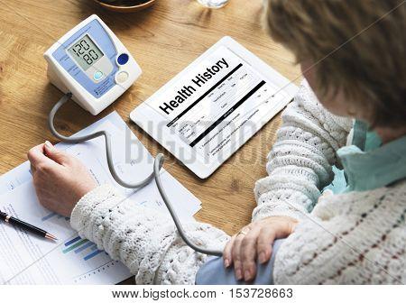 Health Medical Claim Form Concept