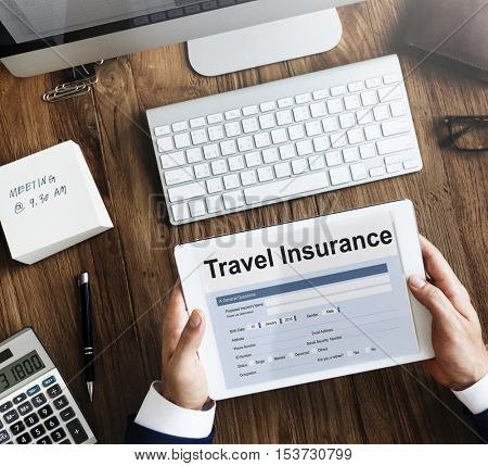 Travel Insurance Claim Form Concept