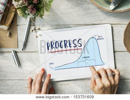 Progress Report Analytics Strategy Concept