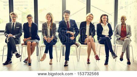 Office Worker Teamwork Employee Variation Concept