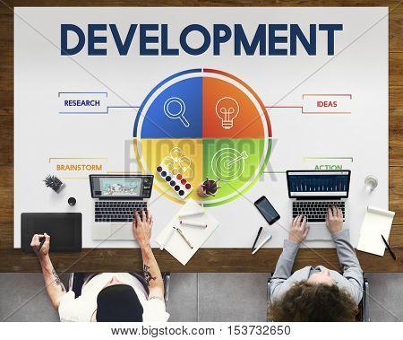 Development Business Plan Strategy Concept