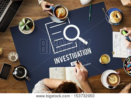 Investigation Results Analysis Discovery Concept