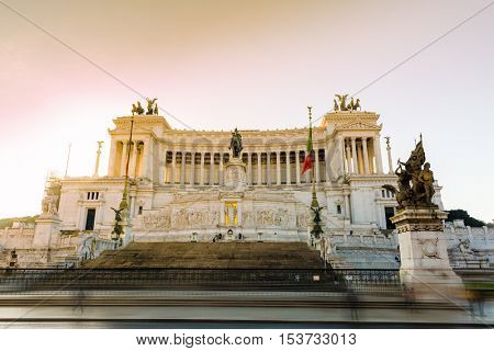 Monument to Victor Emmanuel II, in Rome, Italy
