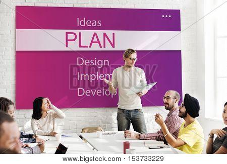 Plan Research Analyze Creativity Concept