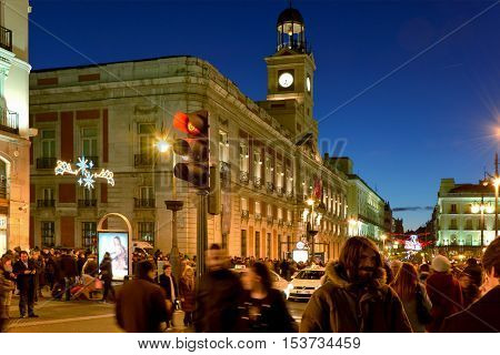 Madrid-December 8: House of the Post Office on the