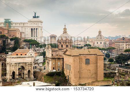 Rome ruins, Italy