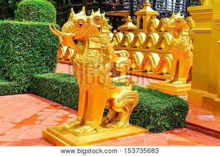 lion mix with elephant thai architecture, Thailand style