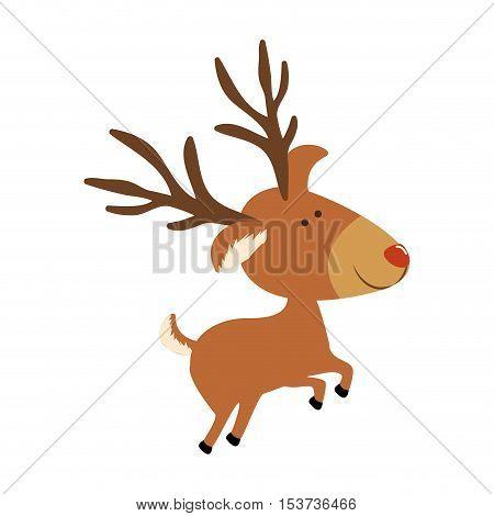 deer cartoon icon image vector illustration design