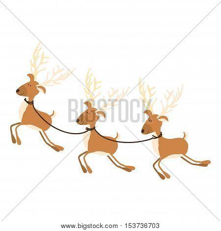 white horn deer cartoon icon image vector illustration design
