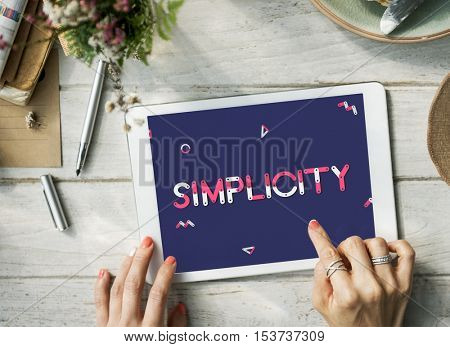Digital Device Simplicity Graphic Concept