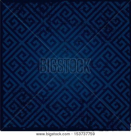 Background pattern -geometry lines dark blue color greek pattern