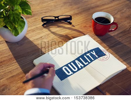 Business Quality Approved Assurance Concept
