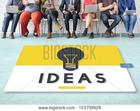 Light Bulb Ideas Creation Graphic Concept