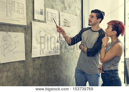 Design Studio Architect Creative Occupation Blueprint Concept