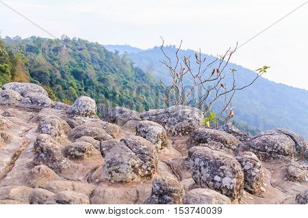 Eveing at Lan Hin Pum (natural phenomenon), Phu Hin Rong Kla National Park, Thailand