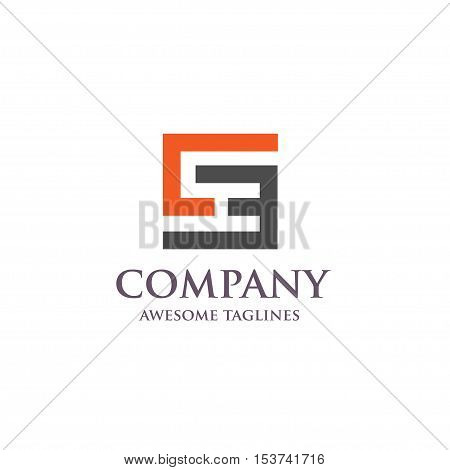 CE,E,C, SE letter Business design template logo icon, letter CE  square logo concept