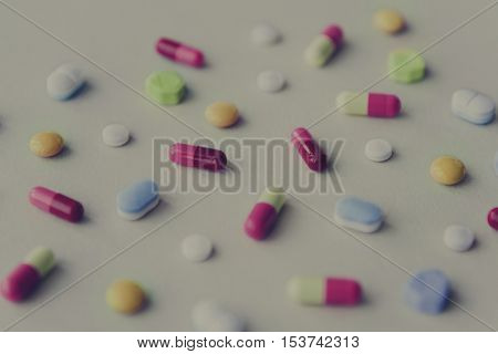 Medicine Pill Capsules Tablet Drug Prescription Concept