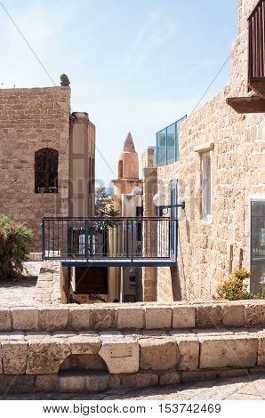 Quiet street in old city Yafo Israel
