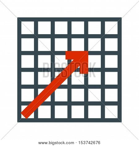 Graph, chart, diagram icon vector image. Can also be used for web. Suitable for mobile apps, web apps and print media.