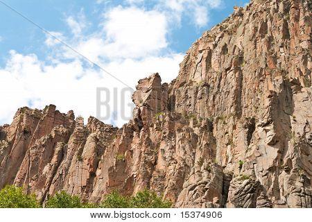 Cimarron Canyon Cliff Sangre De Cristo Mountain Us