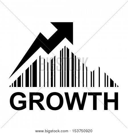 EAN barcode mountain growth profit symbol vector