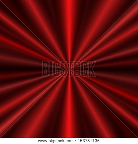 Red concentric curtain background for your design