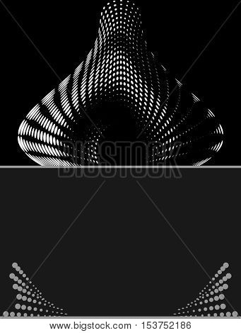 Background Composition, Web Template (Halftone) Vector Illustration