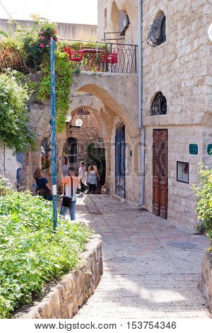Quiet Street In Old City Yafo, Israel
