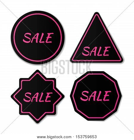 Black Friday sales tag. Black Friday sale black banner, advertising, vector illustration. Sale badge. Sale tag. Sale label. Sale banner.