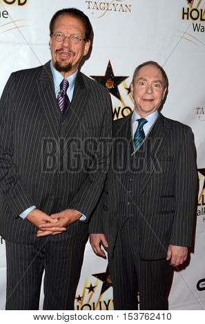 LOS ANGELES - OCT 25:  Penn Jillette, Teller at the Hollywood Walk of Fame Honors at Taglyan Complex on October 25, 2016 in Los Angeles, CA
